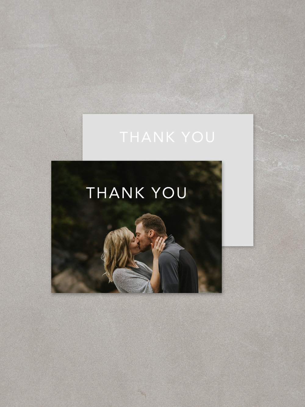 Forelsket // Thank You Card in custom ink background