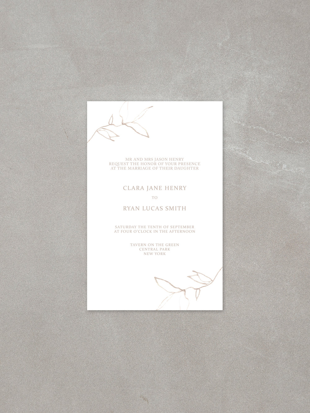 Elysian // Invitation in sandstone