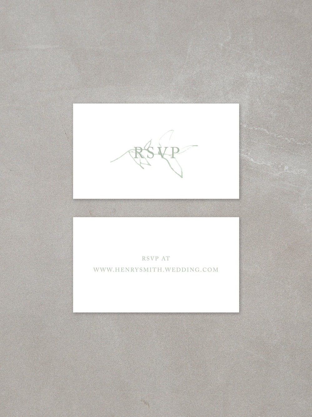 Elysian // Mini RSVP Card in sage