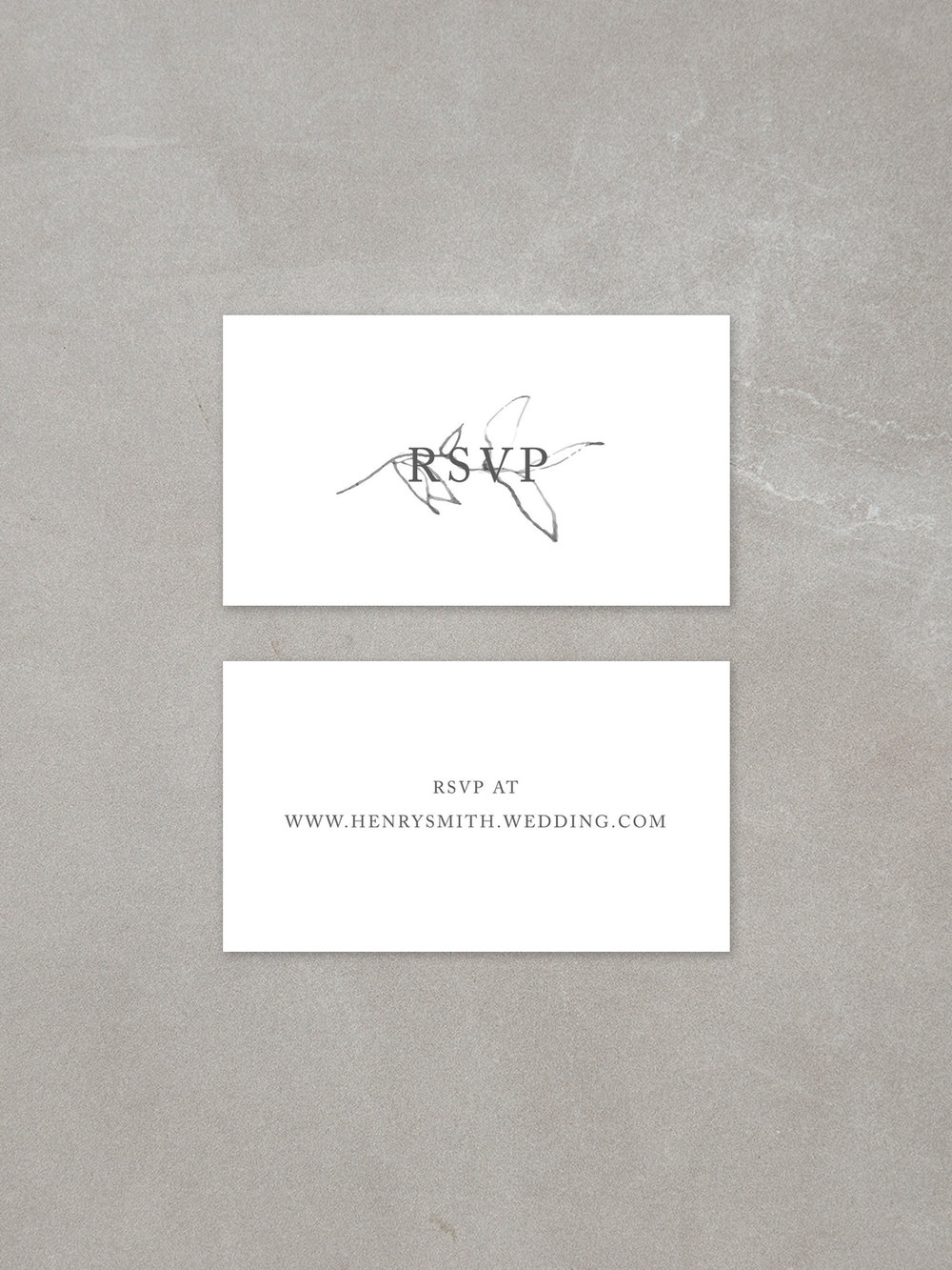 Elysian // Mini RSVP Card in slate