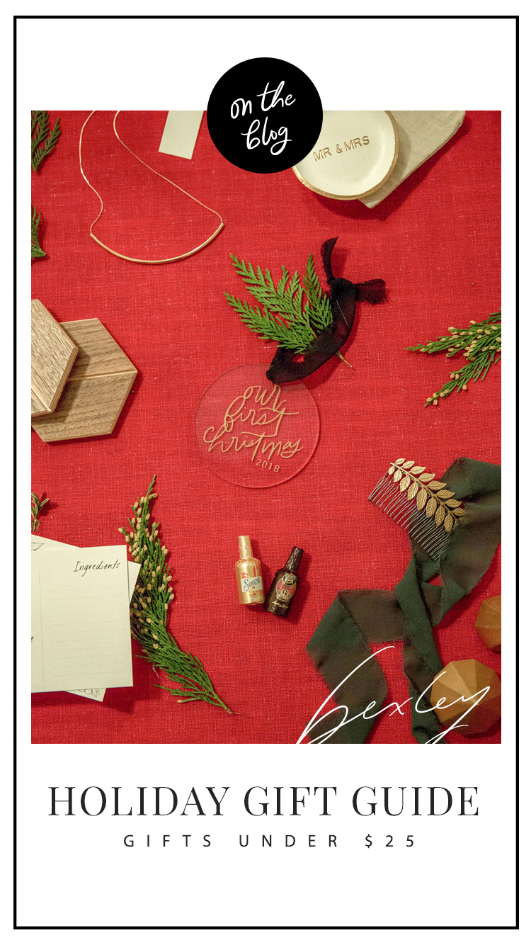 Bexley Design Co // Holiday Gift Guide 2018