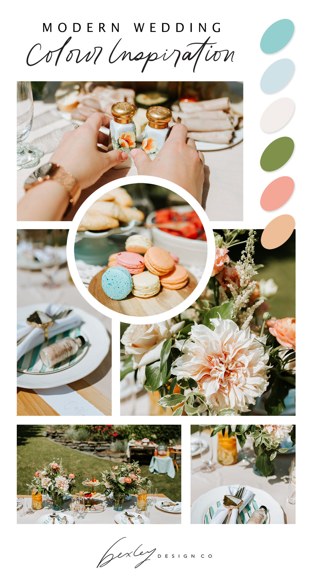 Modern Wedding Colour Inspiration // Bexley Design Co