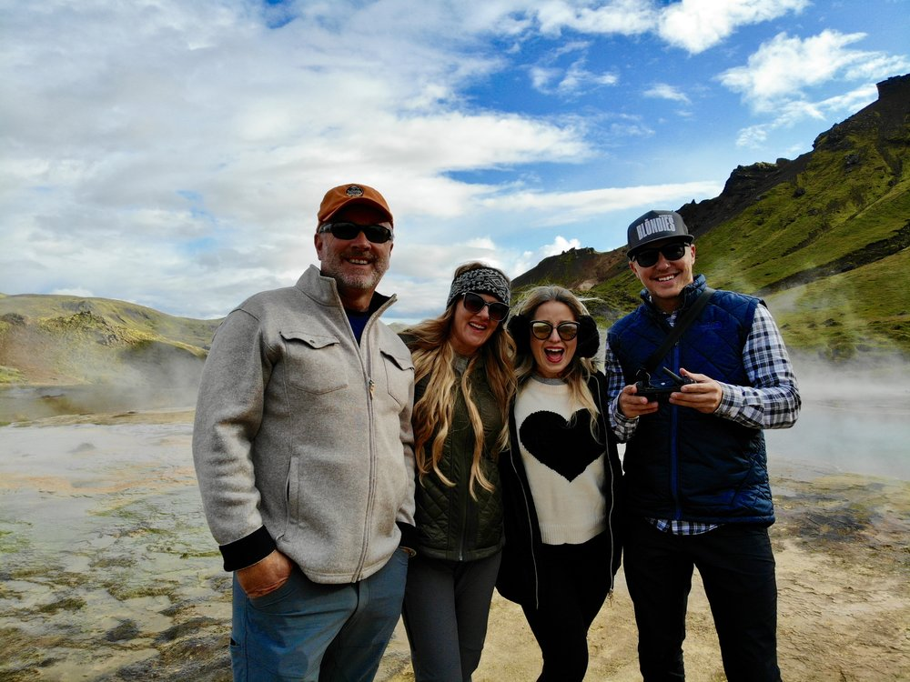The Crew on top of a Volcano!