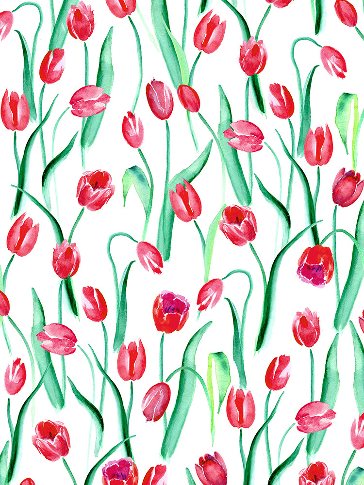 Pattern Play Tulips - by Mahani Del Borrello for Picturette