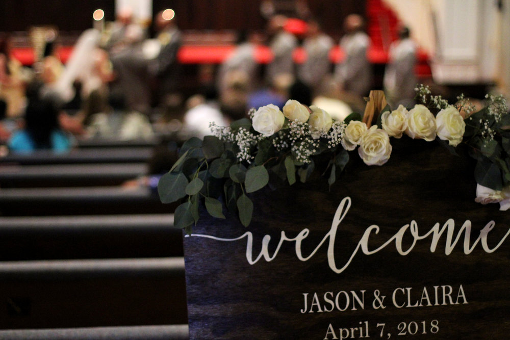 Jason and Claira sign