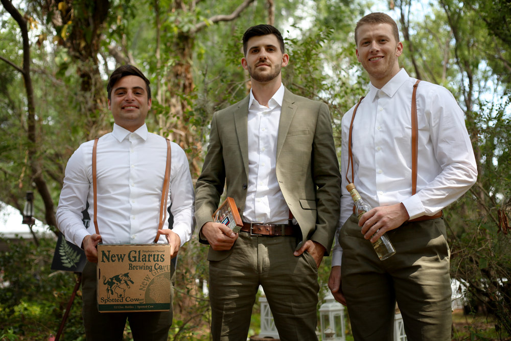 The groomsmen and their most important possessions