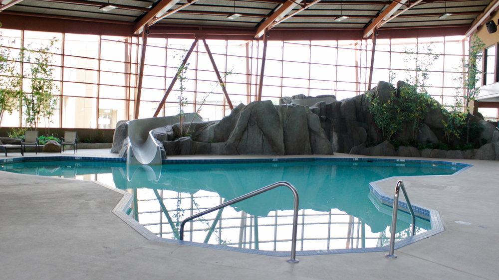 About the River Rock Casino Resort Pool - This warm saltwater pool is the perfect place to book a beginner private swim lesson with shallow and deep areas, free towel service, and lounge chair seating for parents. For the kids, or the kid in you, the pool also features a 70 foot waterslide.