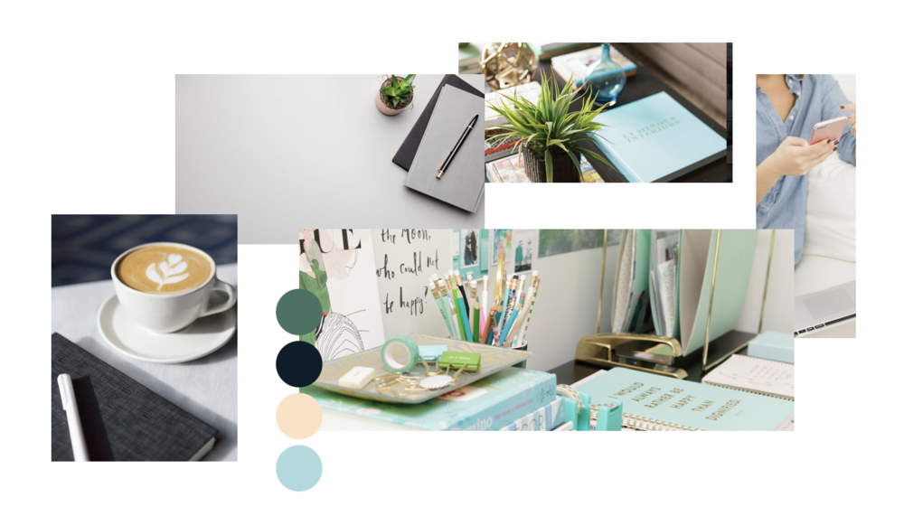 inspiration boards - Want some mood and color inspiration? Check out our premade brand boards featuring photos and colors to fit every brand. And yes, you can feel free to share these too!