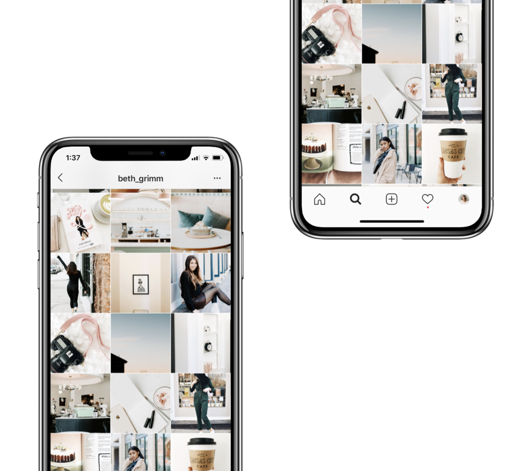 done for you instagram layouts - Never stress about how to layout your feed in a cohesive and impactful way again. We will show you how to use our photos and graphics to create an on brand, eye catching feed.
