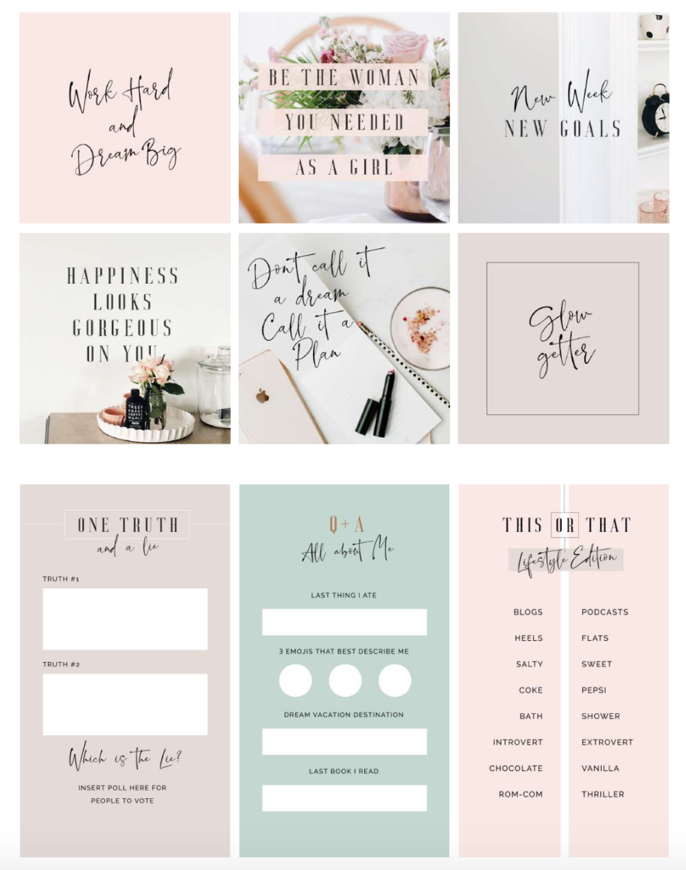 2. Download the Quarterly Social Media Graphics - You are going to love this quarter's social media graphics bundle!
