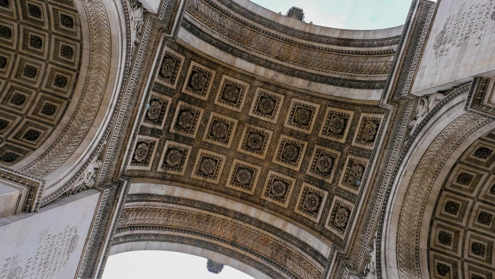The top of the Arc de Triomphe