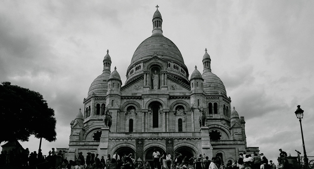 The front of Sacré-Cœur