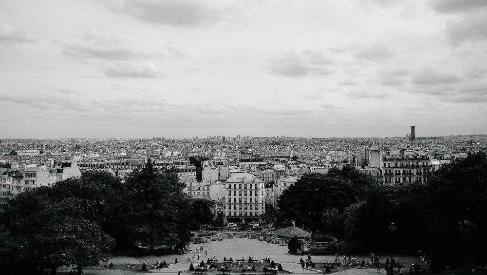 The view of Paris from Sacré-Cœur