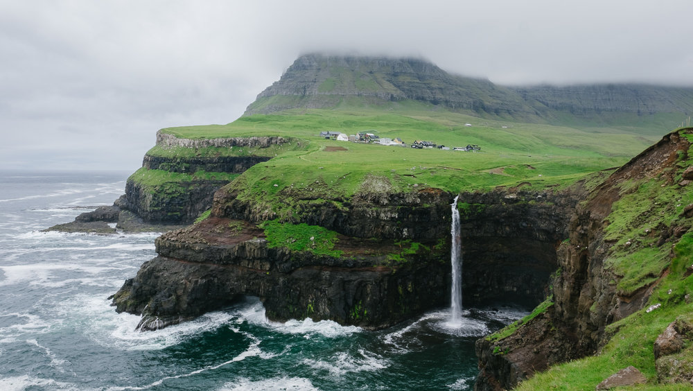 Mulafossur Waterfalls