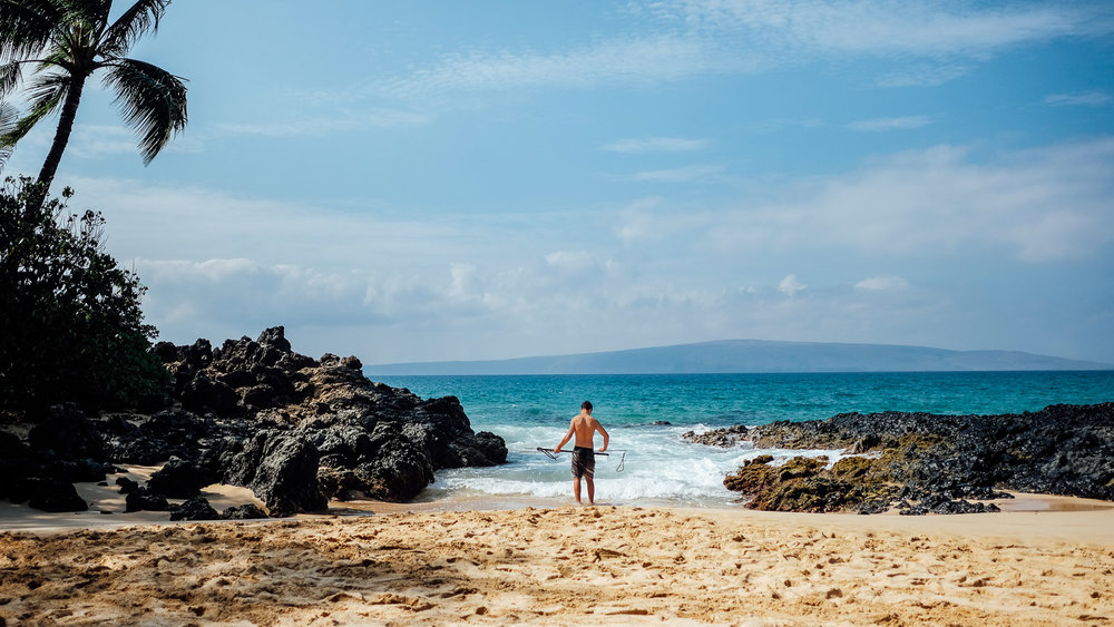 Fisherman in Makena Cove