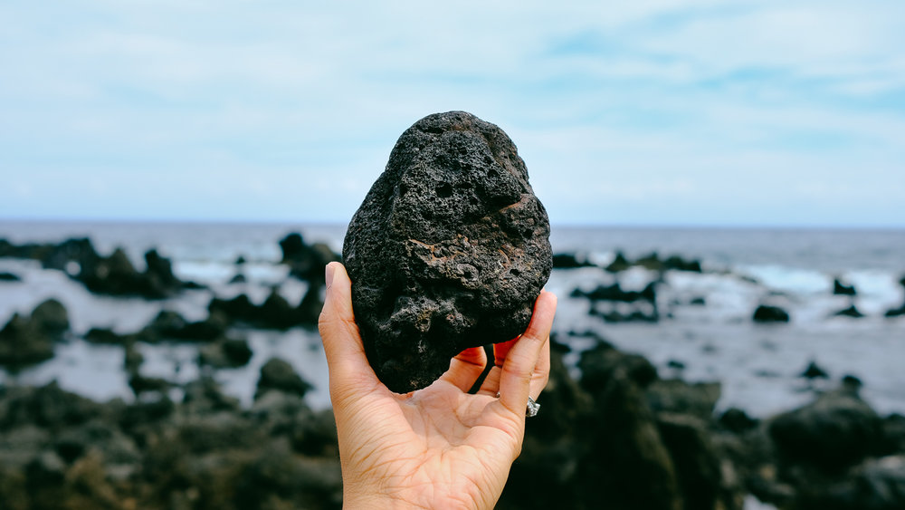 Lava rock at Keanae Lookout