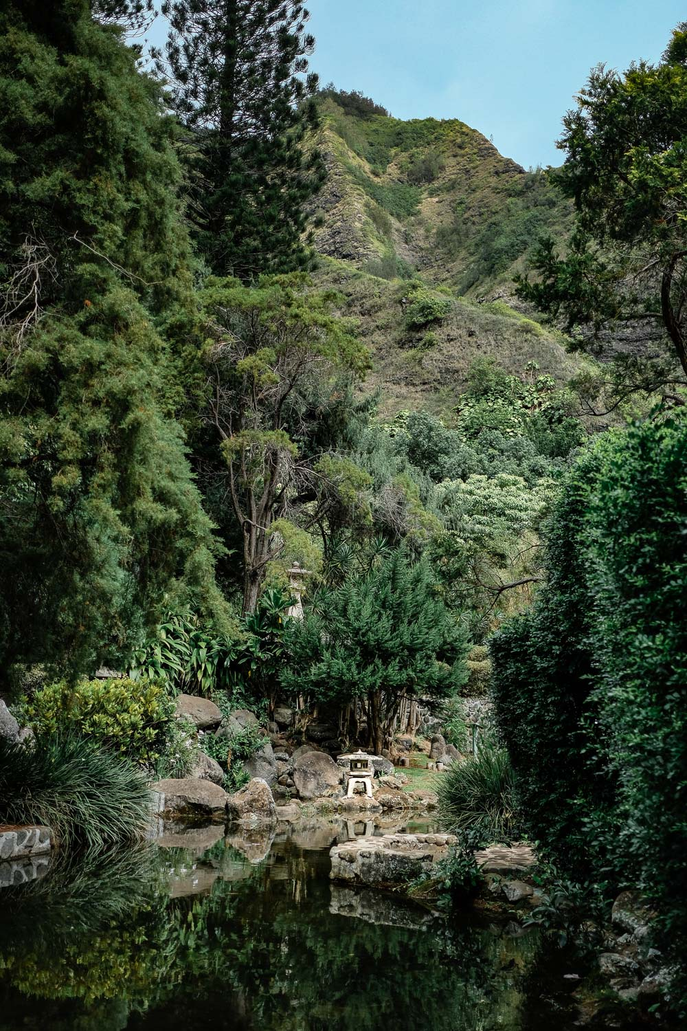 A Japanese garden near Iao Valley