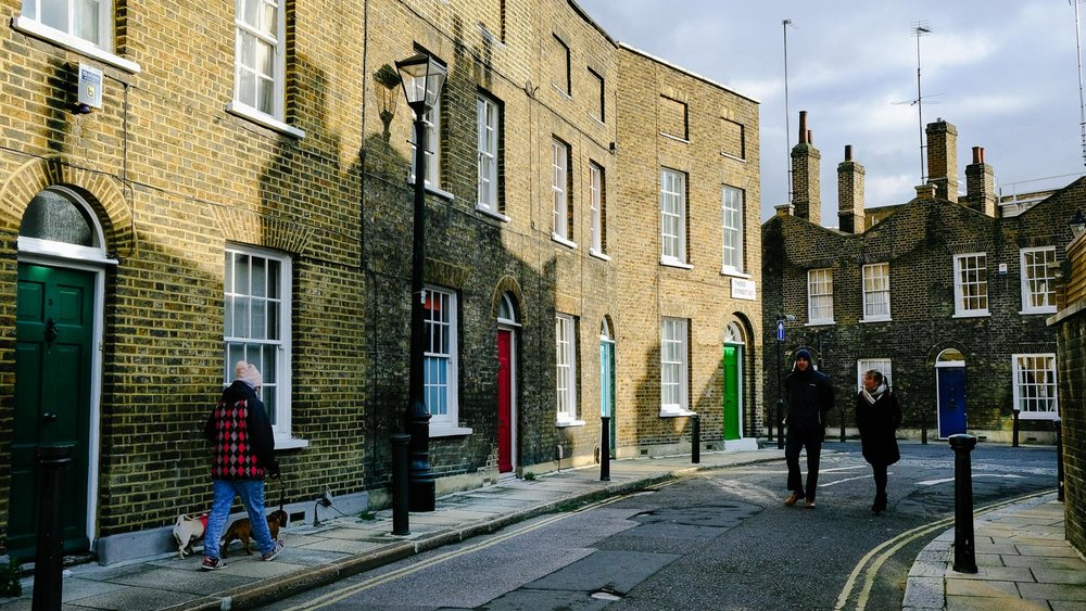 An old housing area in London