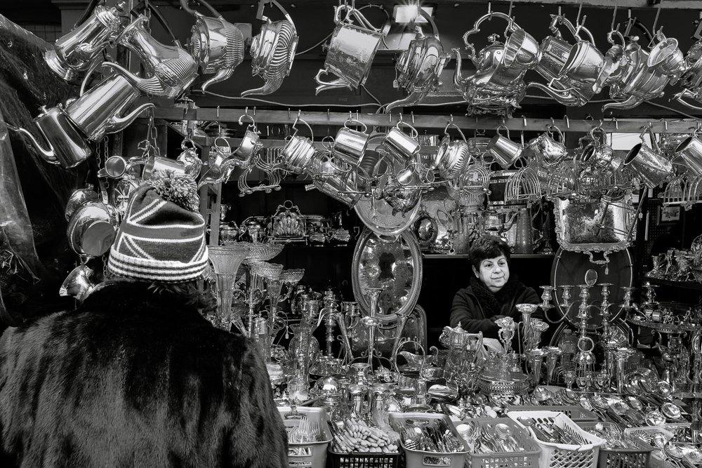 A stall at the Portobello Market
