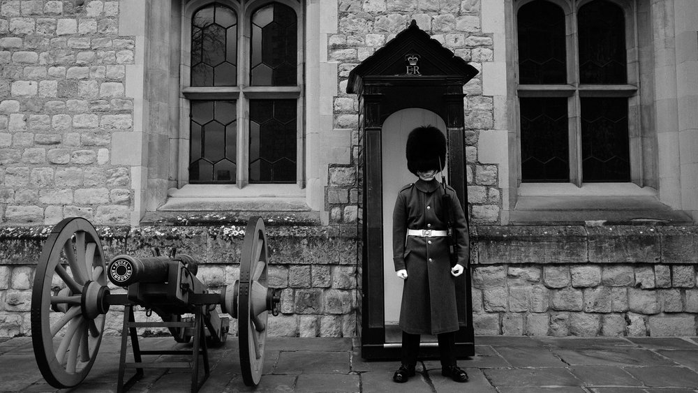 A London guard manning his post
