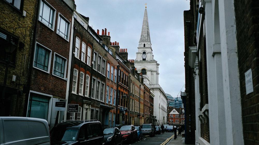 A beautiful street in London