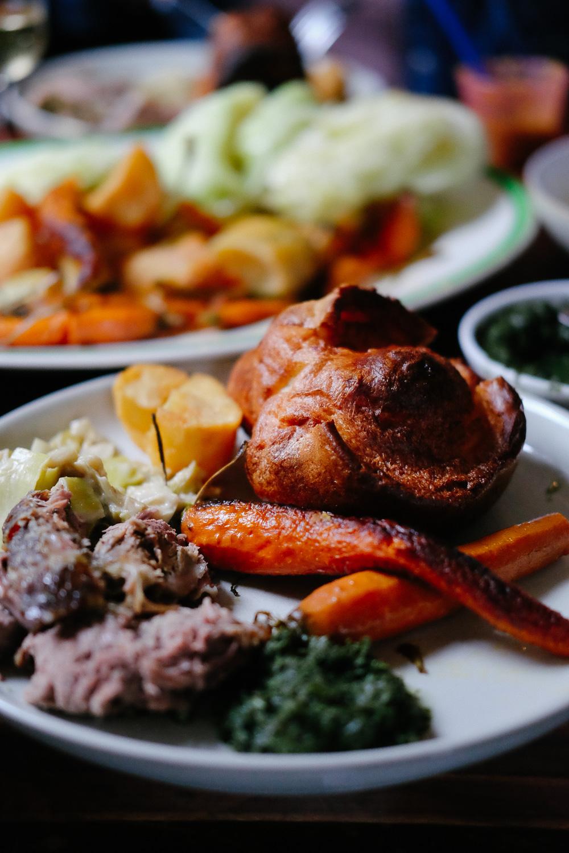 Lamb and Yorkshire Pudding at The Royal Oak