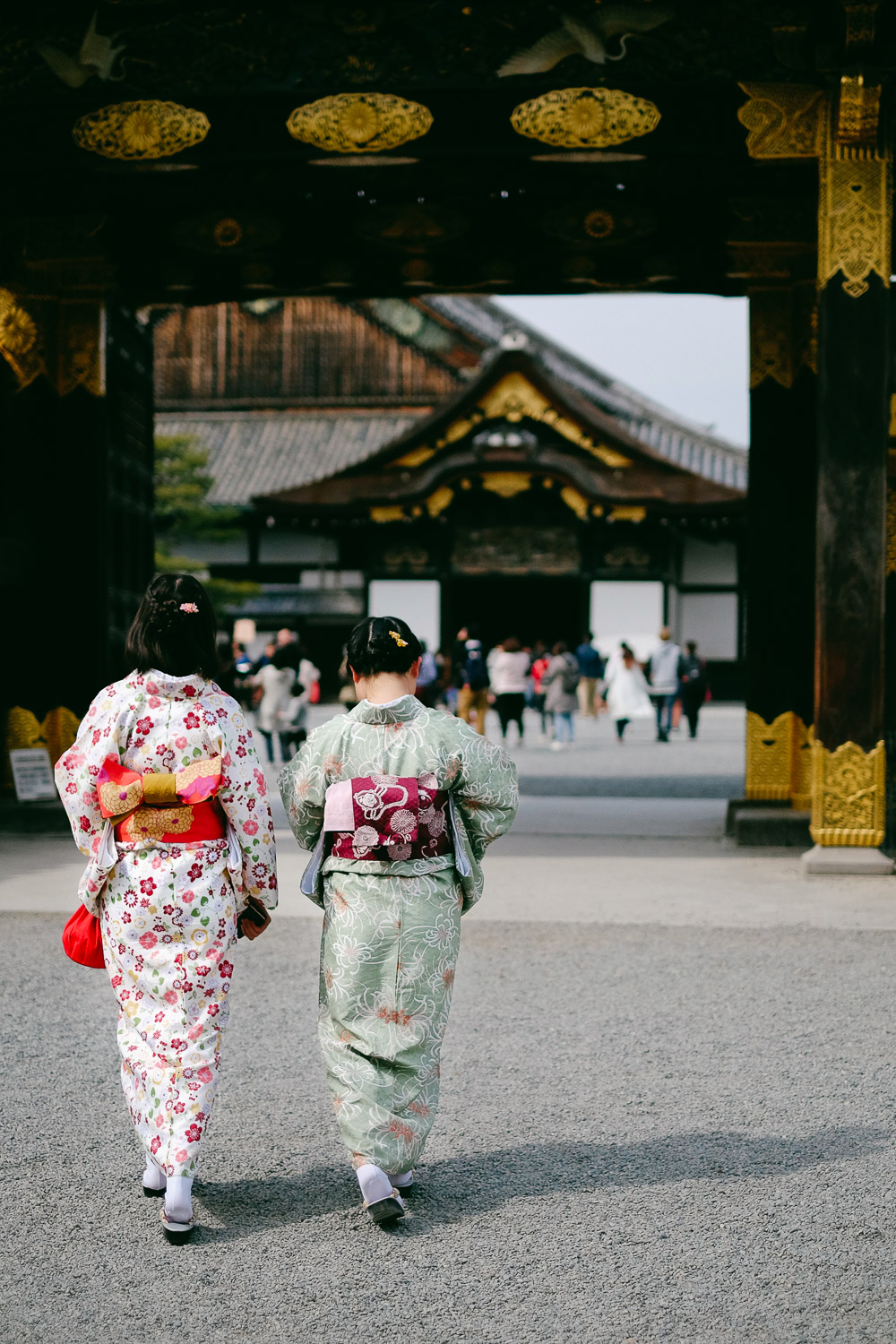 Women in kimonos in Kyoto