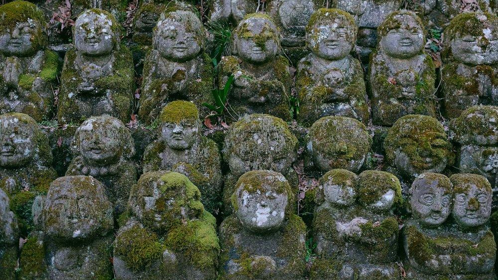 Buddahs at Otagi Nenbutsu-Ji in Arashiyama