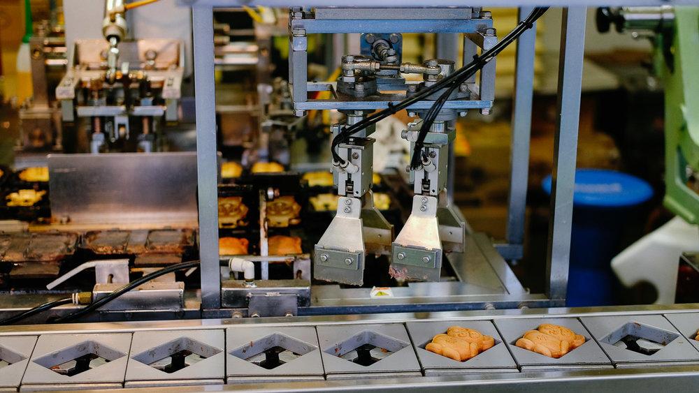 A waffle machine in Kyoto