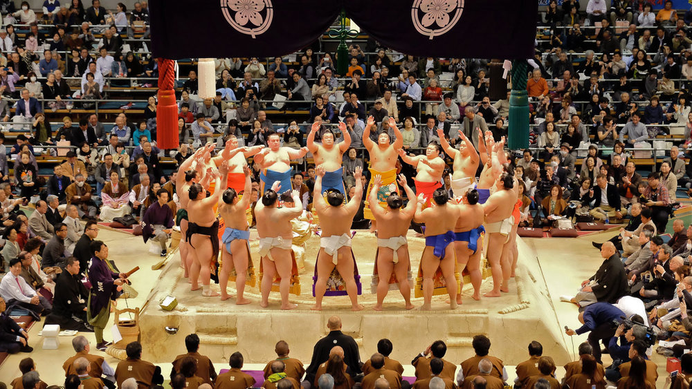 The Grand Sumo Tournament in Osaka