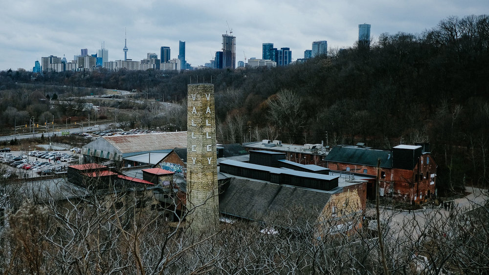 A view of Toronto from the Evergreen Brickworks