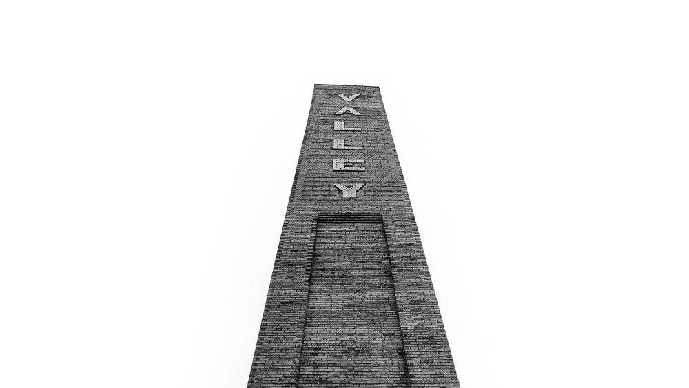 The old chimney at The Evergreen Brickworks
