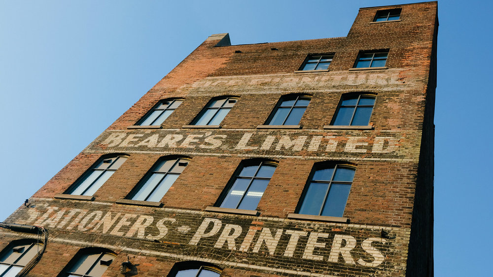 The old Beare's Limited Stationers Printers building