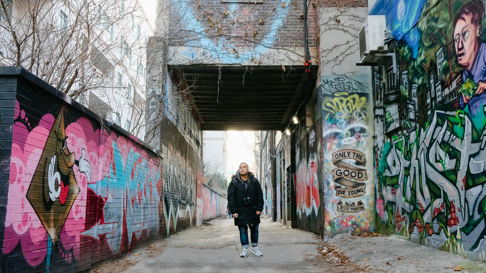 The main section of Graffiti Alley