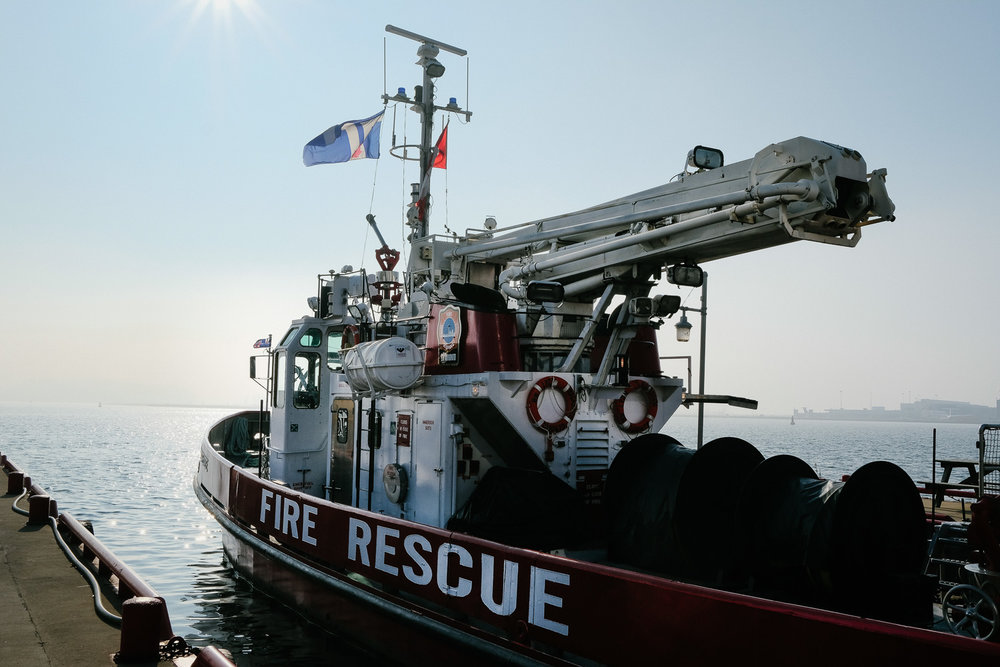 The fire rescue boat by the Harbourfront
