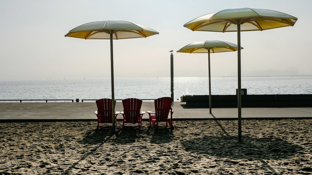 The beach near the Toronto Harbourfront