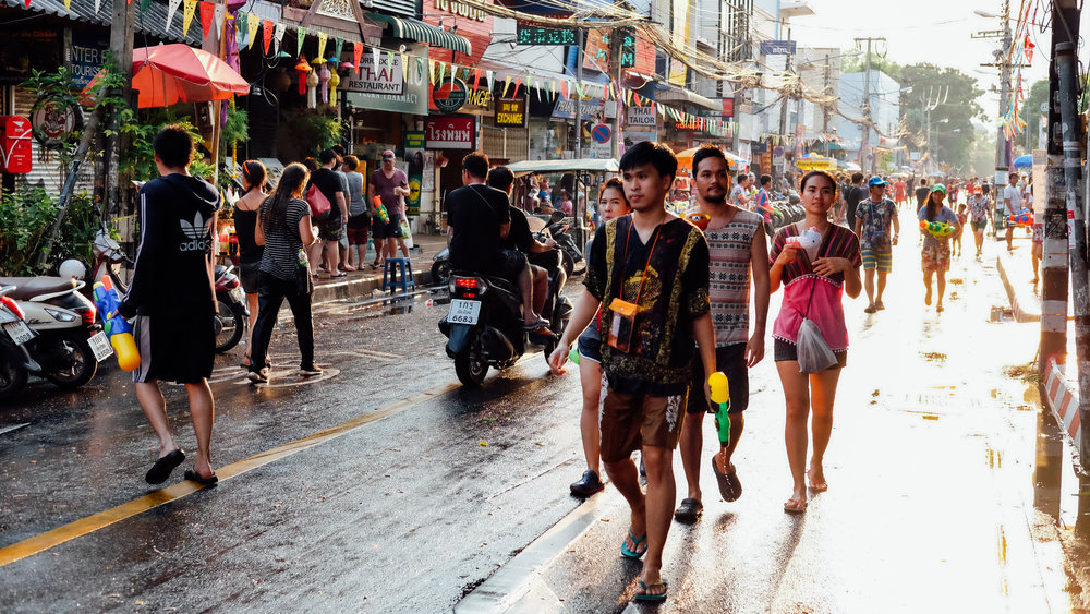 The streets of Chiang Mai during Songkran