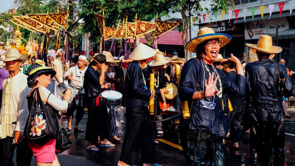 A wet parade for Songkran