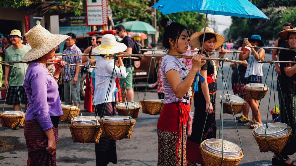 Songkran Parade in Chiang Mai