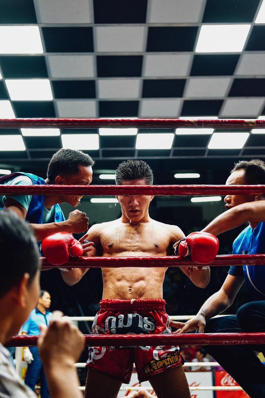 Muai Thai Fighter pep talk