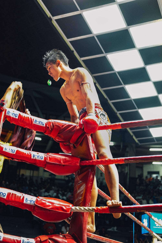 Muay thai fighter at Rajadamnern Stadium