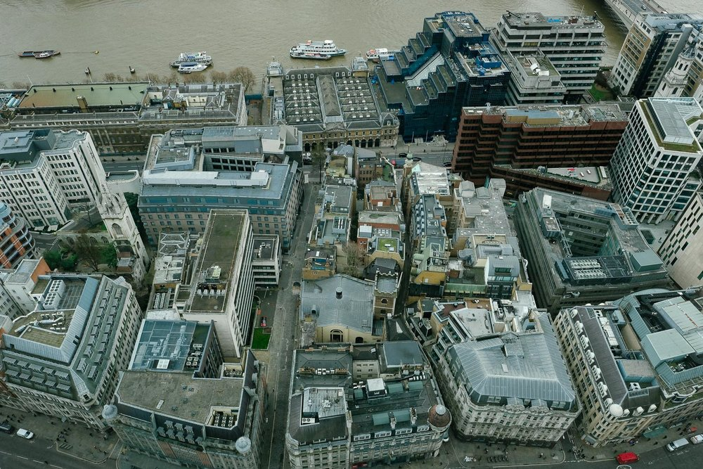 A view of London from the Sky Garden