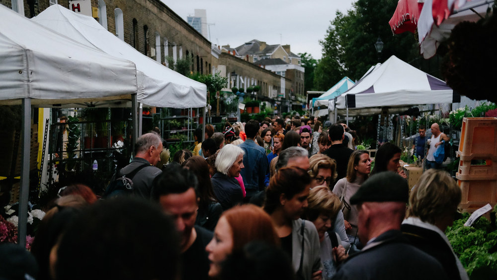The Columbia Road Flower Market on a Sunday