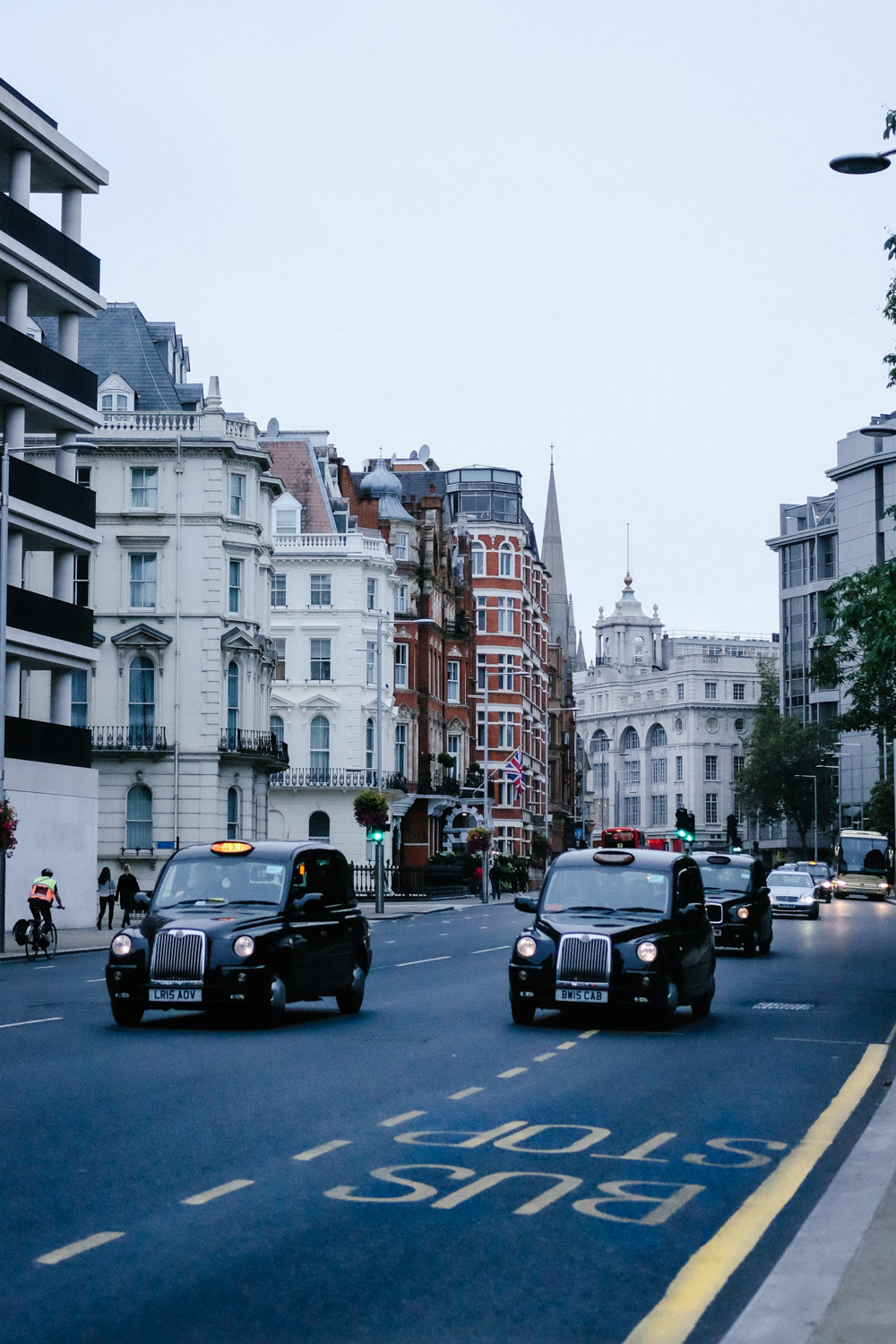 The black cabs of London