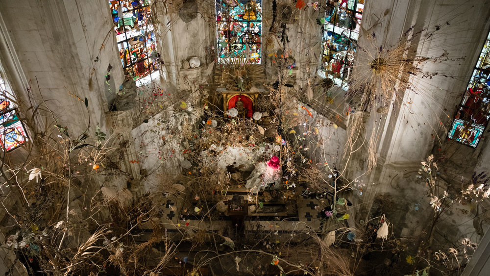 """The chapel with an installation by Gerda Steiner and Jörg Lenzlinger - Travel photography and guide by © Natasha Lequepeys for """"And Then I Met Yoko"""". #loirevalley #france #travelguide #valdeloire"""