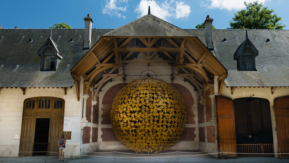"""Art installation by Klaus Pinter - Travel photography and guide by © Natasha Lequepeys for """"And Then I Met Yoko"""". #loirevalley #france #travelguide #travelphotography #valdeloire"""