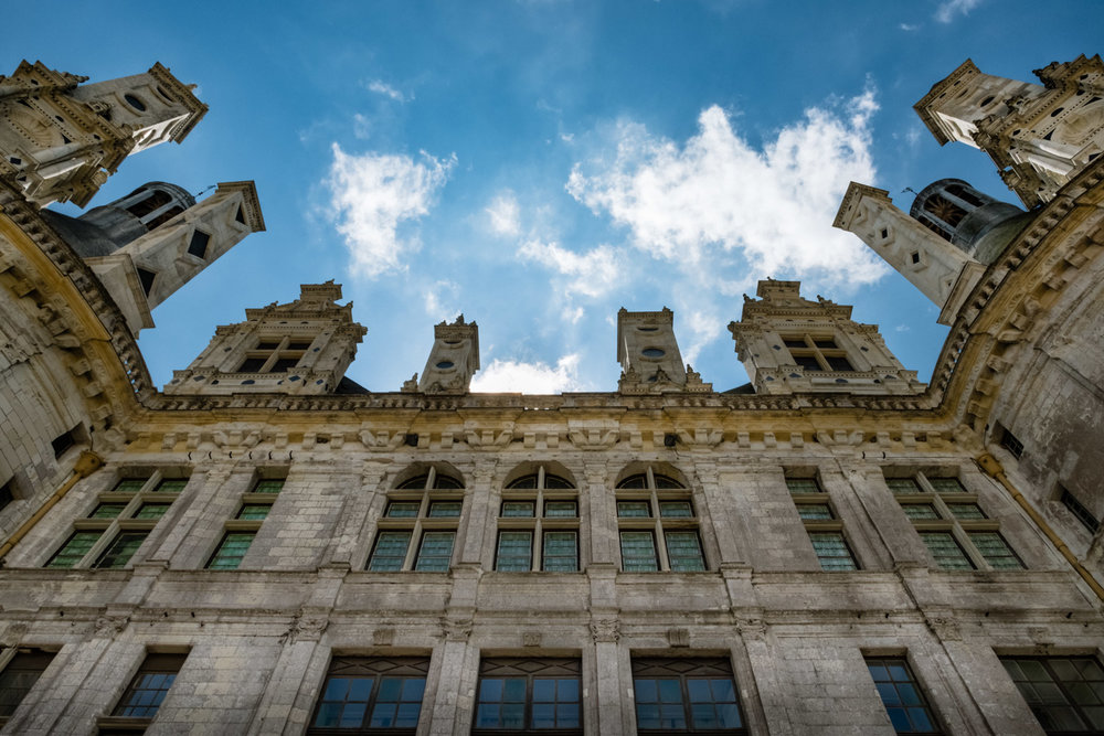 """Towers of the Château de Chambord - Travel photography and guide by © Natasha Lequepeys for """"And Then I Met Yoko"""". #loirevalley #france #travelguide #travelphotography #valdeloire #chambord"""