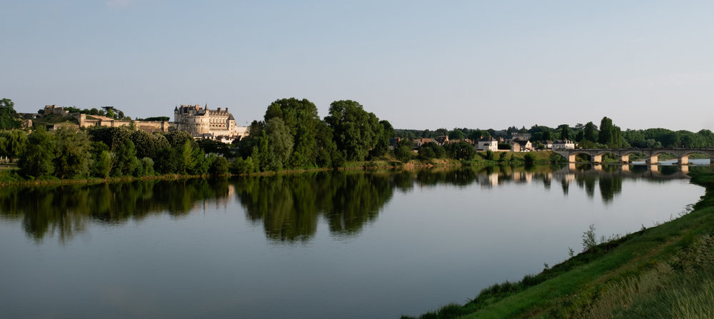 The city of Amboise from across the river