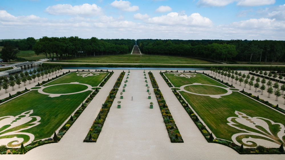 The French gardens of Chambord