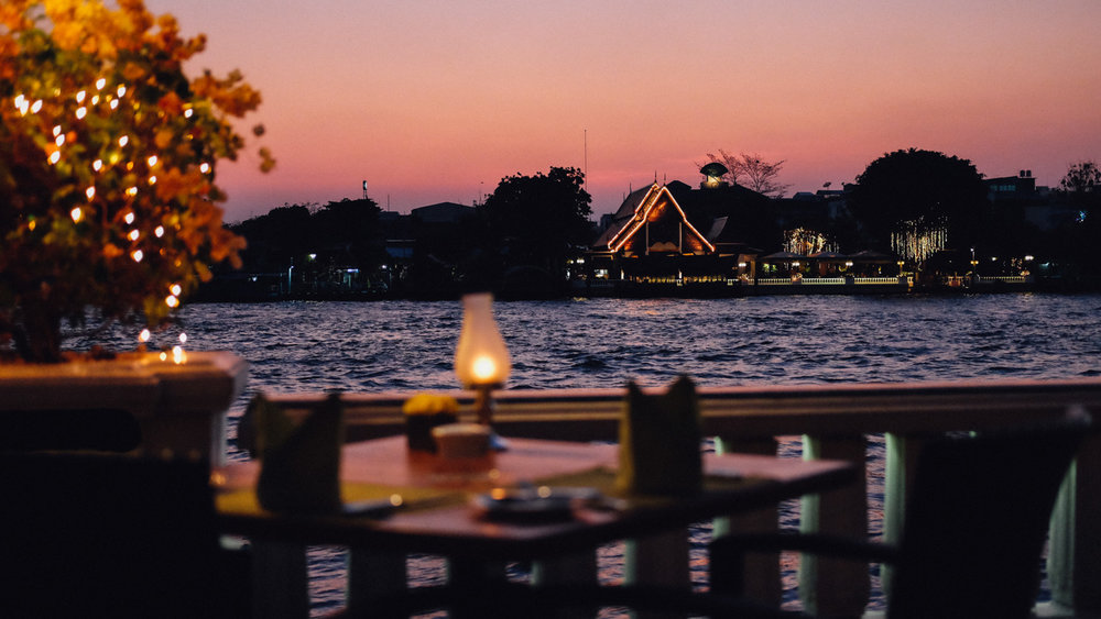 Enjoy a thai meal overlooking the Chao Phraya river at the  Mandarin Oriental Terrace Rim Naam